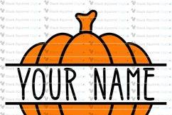 Pumpkin Monogram and Split Frames SVG Bundle Product Image 4