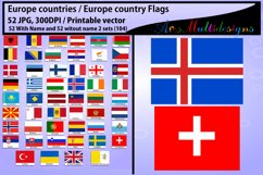 Europe countries / Europe country Flags / country flag / 300DPI / Vector flags / flag clipart and silhouette / printable flag/ digital flag Product Image 5
