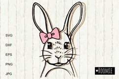 Rabbit Girl SVG, Bunny face svg Happy Easter clipart Cutfile Product Image 2