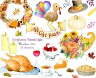 Watercolor Thanksgiving Clipart - Horn of Plenty, PNG Product Image 4