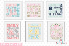 Baby Birth Announcement Template Bundle Product Image 1