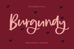 Web Font Burgundy - Beautiful Script Font Product Image 1