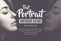 Text Portrait Photoshop Actions Vol.01 Product Image 1