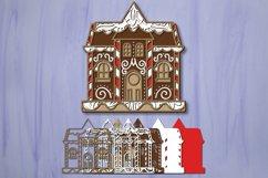 Gingerbread House svg bundle 3D Christmas Papercut Product Image 3