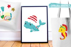 Christmas underwater graphics and illustrations Product Image 5