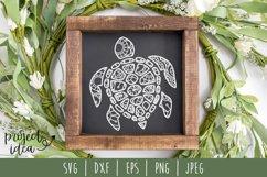 Turtle Mandala Zentangle SVG, DXF, EPS, PNG, JPEG Product Image 1