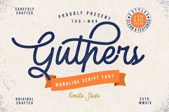 Guthers - Monoline Script Font Product Image 1