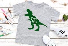 Two Rex, 2nd birthday Dinosaur SVG tyrannosaurus rex svg Product Image 2