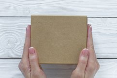 Mockups bundle box, with hand, note. PSD Product Image 8