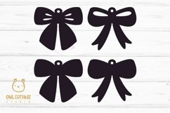 Bow Earrings SVG, Ribbon Earrings svg template, bow svg Product Image 2