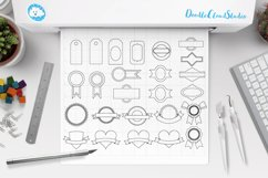 Labels SVG, Price Tag Label svg files for Silhouette Cameo and Cricut. Label clipart PNG included, clipart PNG transparent Product Image 2