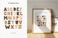 Alphabet Set, Boho Animal Letter Clipart, SVG, PNG, EPS Product Image 2