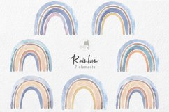 Blue rainbow watercolor Product Image 2