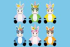 Cute Unicorn Clipart Bundle, Magical Horses, PNG, JPEG, EPS Product Image 3