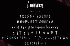 Loneliness   Brush Font Product Image 3