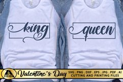 Valentines Day SVG Love Quotes SVG King Queen SVG Cut Files Product Image 2
