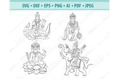 Hindu gods Svg, Hinduism Svg, Indian God Svg, Png, Eps, Dxf Product Image 1