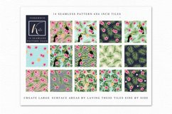 Tropical summer Seamless Travel pattern tiles. Product Image 2