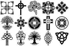 Celtic Symbols, Knots & Crosses AI EPS PNG, Irish Clip Art Product Image 3