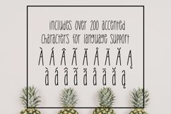 Tropical Trouble - Tall and Skinny Handwritten Font Product Image 3