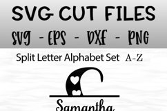 Split Letters A-Z - 26 split monogram files - Hearts Product Image 6