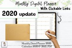 Monthly Dated DIGITAL Planner 2020 Brown PDF CLICKABLE link Product Image 1