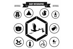 Baby infographic template, simple style Product Image 1