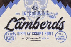 Lamberds - Display Script Font Product Image 1