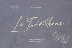 Le Patterns Script Font Product Image 1