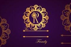 Flower Mandala Monogram Font Product Image 3
