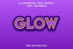 glow text effect editable vector Product Image 1