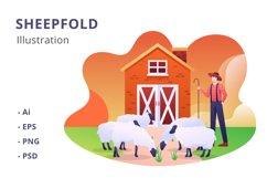Sheepfold Illustration Product Image 1