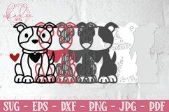 3D Valentine Puppies, Papercut Valentines, 3D Dog SVG Bundle Product Image 4