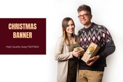 Christmas banner with a couple with eco friendly gifts Product Image 1