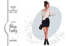 Boss Lady Clipart, Fashion Girl Illustration Product Image 1