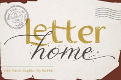 Letter Home. Font Trio Graphics. Product Image 1