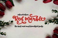 Red Marble || Beautiful Handwriting Product Image 1