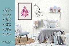 Floral Princess Castle - SVG DXF PNG EPS JPG PDF Cut File Product Image 2