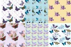 Mini bundle of watercolor seamless patterns.Digital paper Product Image 4