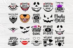 Kids Face Mask SVG Bundle, Quarantine Svg, Face Mask Signs Product Image 4