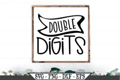 Double Digits SVG Product Image 1