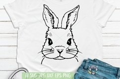 Bunny svg, Easter svg, Cute Bunny Face, Cricut Files, dxf Product Image 1
