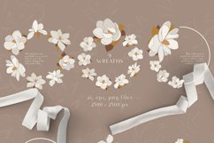 Magnolia flowers clipart. Abstract art Product Image 4