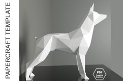 PDF Template of Doberman Pinscher Papercraft/ 3d Dog craft Product Image 3