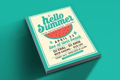 Hello Summer Party Flyer Template Product Image 4