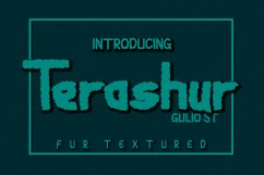 Terashur Textured Typeface Product Image 1