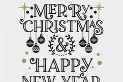 Christmas SVG - Merry Christmas and Happy New Year Product Image 5