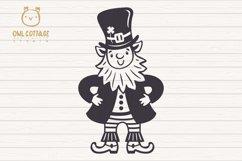 St. Patricks day svg, Leprechaun, Leprechaun with Beer Mug Product Image 4