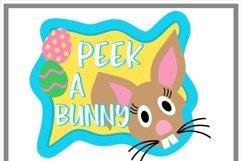 Peeking Easter Bunny SVG Product Image 2