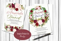 Watercolor Marsala and Blush Bundle for Weddings Product Image 7